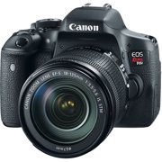 Canon Black EOS Rebel T6i Digital SLR Camera with 24.2 Megapixels and 18-135mm and 75-300mm Lenses Included