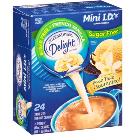 (6 Pack) International Delight Sugar Free French Vanilla Creamers, 24 Ct