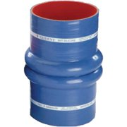 "Trident Blue ""VHT"" 14' Double Hump Marine Hose Bellows with T-Bolt Clamps & 1/4"" Wall Thickness"
