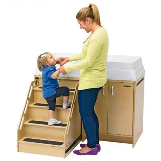 Angeles AEL7550 Angeles Changing Table with Locking Stairs 0-36 mos by Angeles Corporation