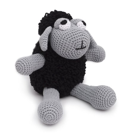- Black Sheep Handmade Amigurumi Stuffed Toy Knit Crochet Doll VAC