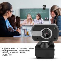 LHCER USB with MIC 12MP HD Web Camera Cam 360° for LCD Screen Laptop for / MSN / ICQ Night Vision, Desktop Camera, Laptop Camera