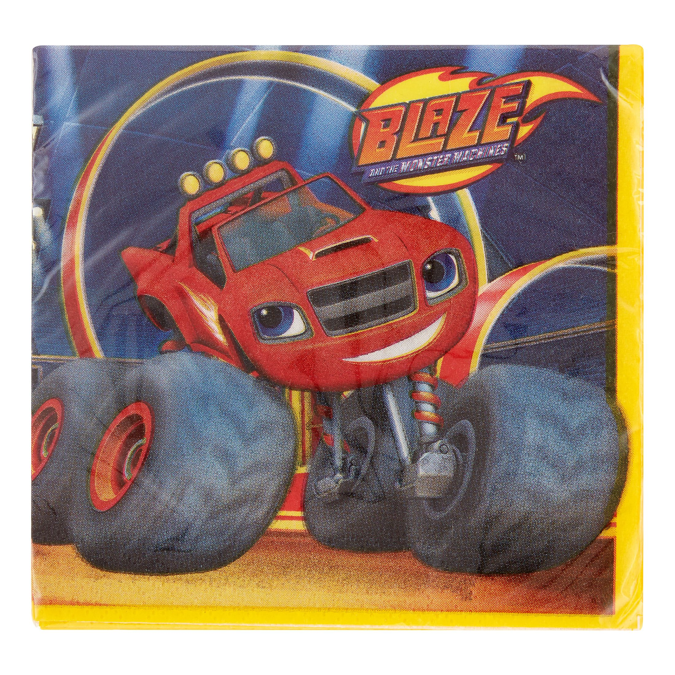 "Blaze and the Monster Machines Beverage Napkins, 5"" x 5\ by Supplier Generic"