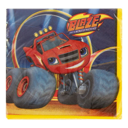 Blaze And The Monster Machines Beverage Napkins  5  X 5   16 Ct