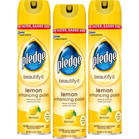 (3 Pack) Pledge Lemon Enhancing Polish 9.7 Ounces (Best Motorcycle Cleaner And Polish)