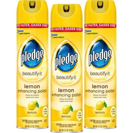 (3 Pack) Pledge Lemon Enhancing Polish 9.7 Ounces