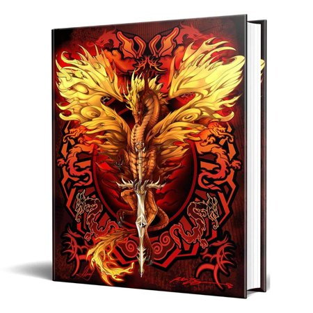 Dragon Journal - Dragon Fantasy Flame Blade Embossed Journal Diary Notebook with Strip 6