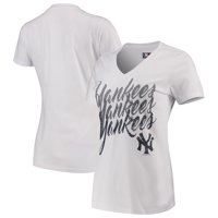 New York Yankees G-III 4Her by Carl Banks Women's Game On V-Neck T-Shirt - White