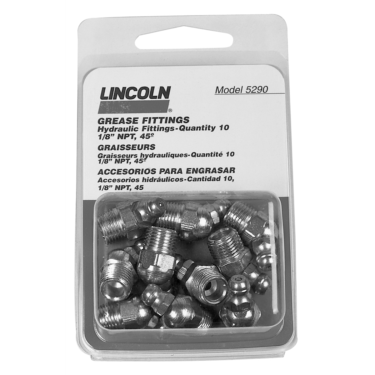 "1/8"" 45° Grease Gun Fittings 10 Count"