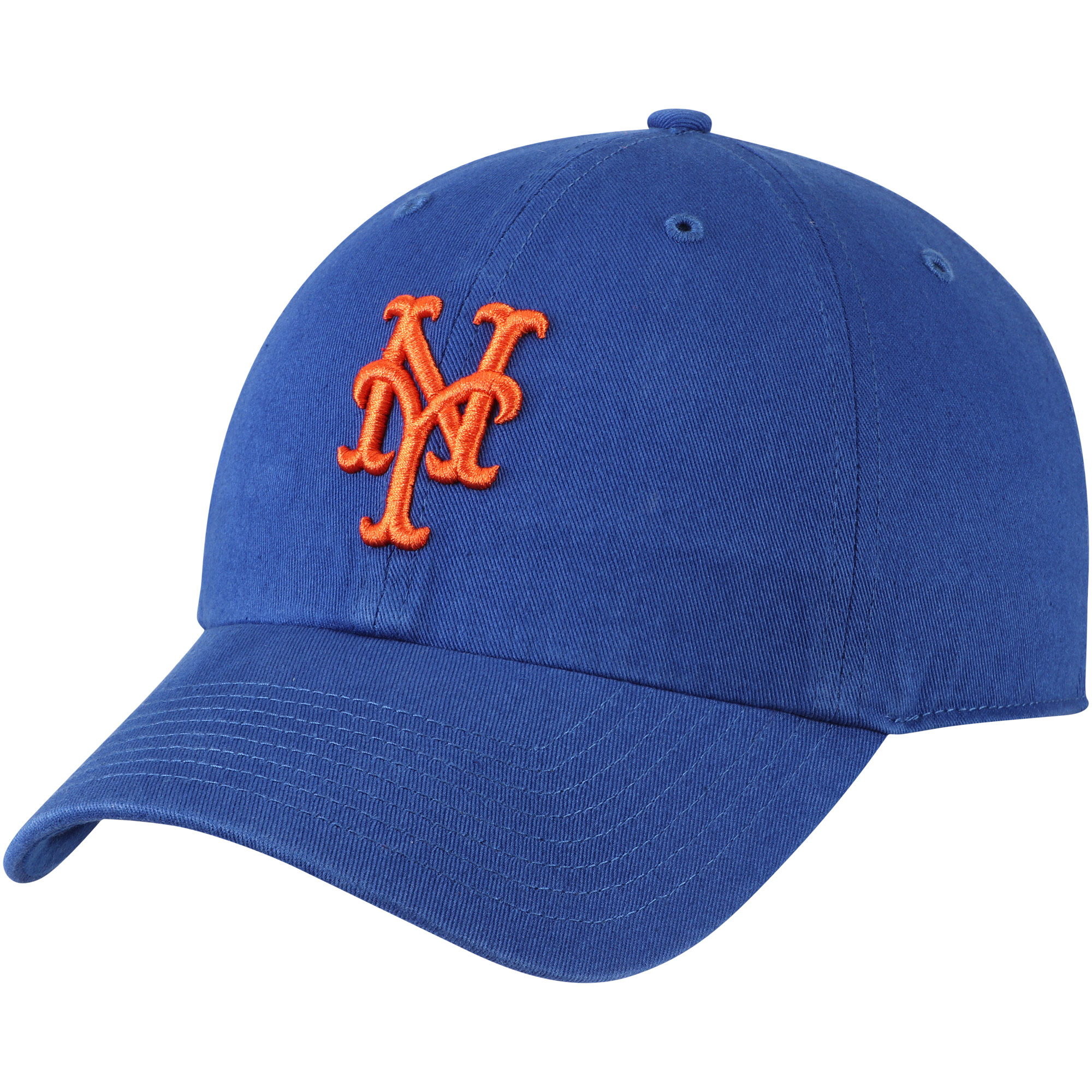 New York Mets Fan Favorite Primary Logo Clean Up Adjustable Hat - Royal - OSFA