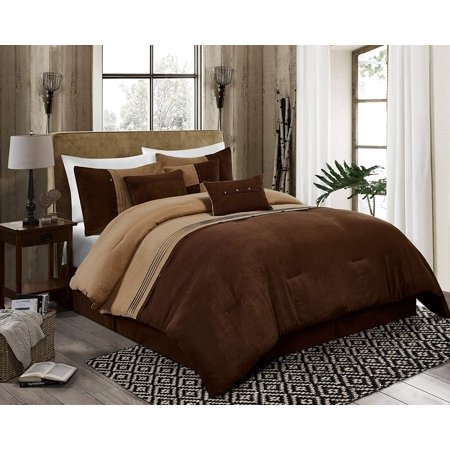 Chezmoi Collection Chandler 7-Piece Western Lodge Micro Suede Bedding Comforter Set ()