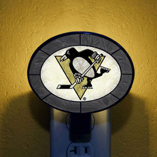NHL - Pittsburgh Penguins Art Glass Nightlight