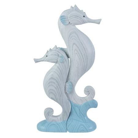 Riding Set Figurine (Seahorses Riding Waves Tabletop Figurines Set of 2)