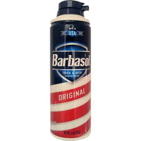 Barbasol original épais et riche crème à raser pour les hommes 6 OZ