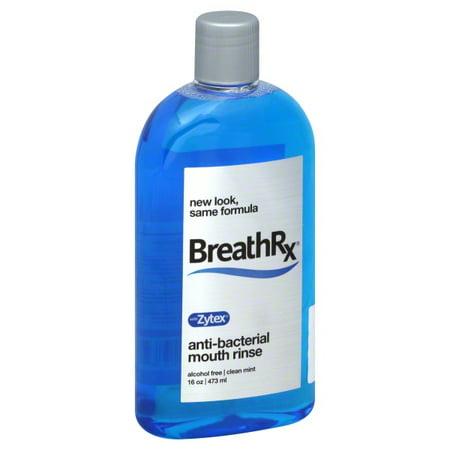 Breathrx: Clean Mint Anti-Bacterial W/Zytex Mouth Rinse, 16 oz