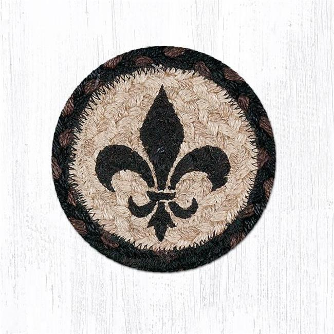 Capitol Importing 31-IC313FDL 5 x 5 in. Fleur De Lis Printed Round Coaster