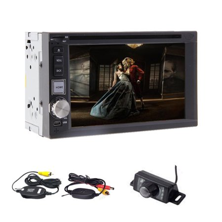 Lowest price! car stereo car DVDplayer AM/FM radio with bluetooth function  wireless camera