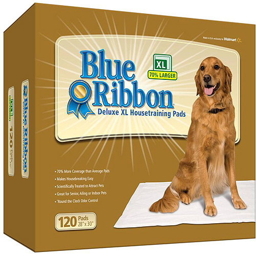 Blue Ribbon Deluxe XL Dog Pads, 120-Count