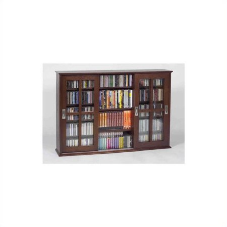 Leslie Dame Wall Hanging Sliding Door Multimedia Cabinet in - Multimedia Wall