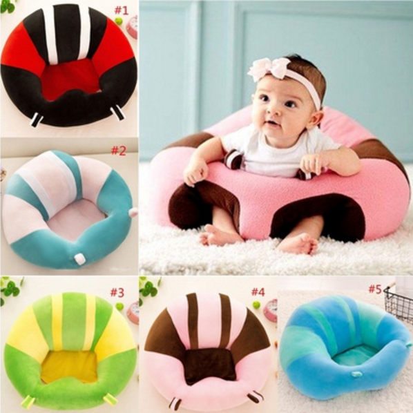 Portable Size Comfortable Newborn Baby Infant Baby Dining Lunch Chair Seat Safety Cotton Plush Legs Feeding Chair