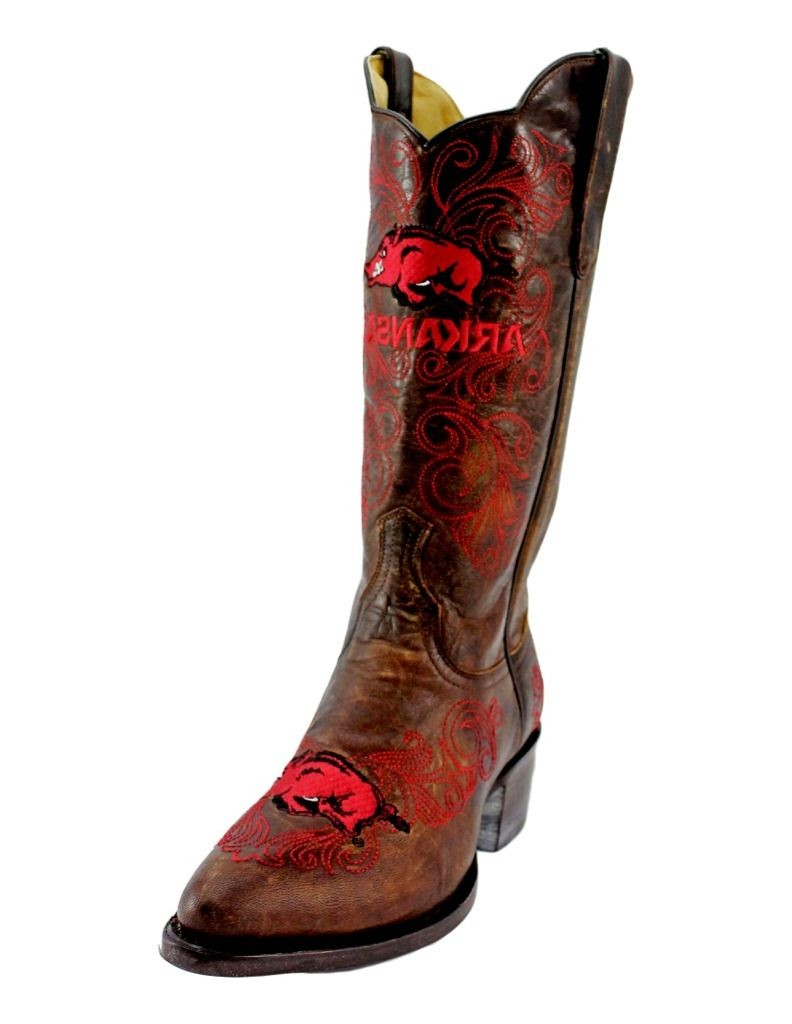 Gameday Boots Womens Western Arkansas Razorbacks Leather ARK-L323-2 by Gameday Boots