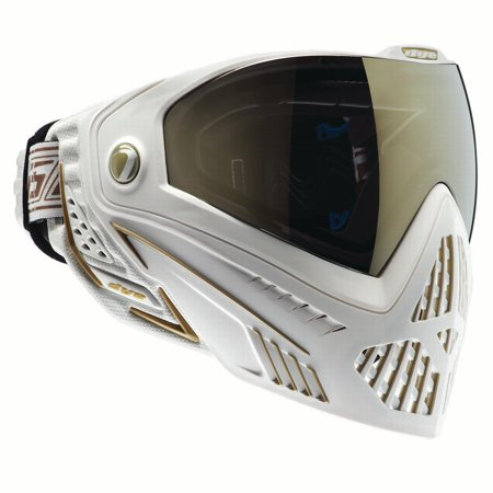 Dye i5 Paintball Goggles w/ Thermal Lens - White / Gold