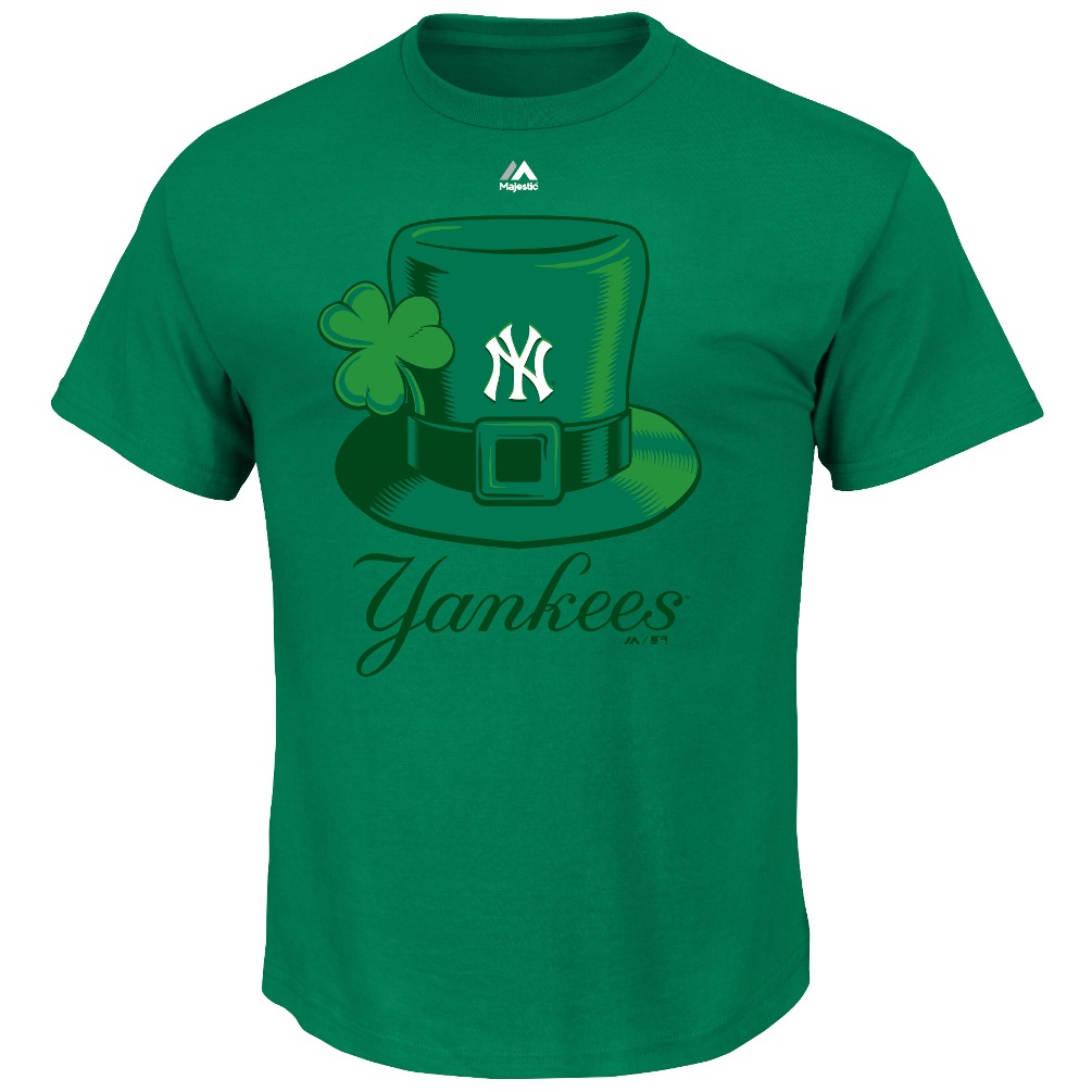 "New York Yankees Majestic MLB ""Four Leaf Luck"" Men's T-Shirt"