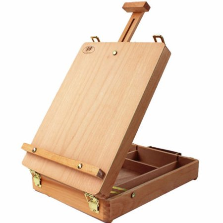 UBesGoo Box Easel Sketchbox Painting Storage Box, Adjust Wood Tabletop Easel for Student Drawing & Sketching](Tabletop Easel For Painting)