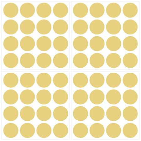 WallPops Metallic Gold Confetti Dots Set (Set of 64)