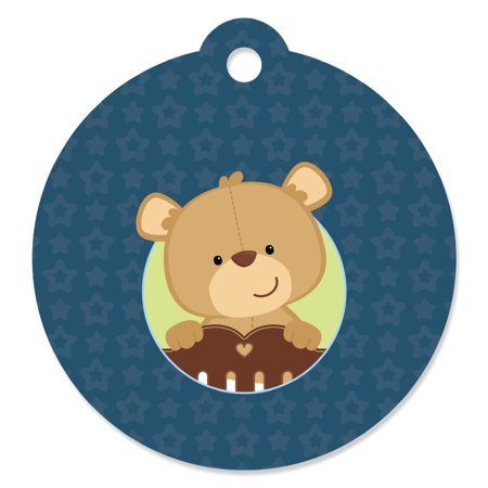 Boy Baby Teddy Bear - Party Favor Tags (Set of 20)