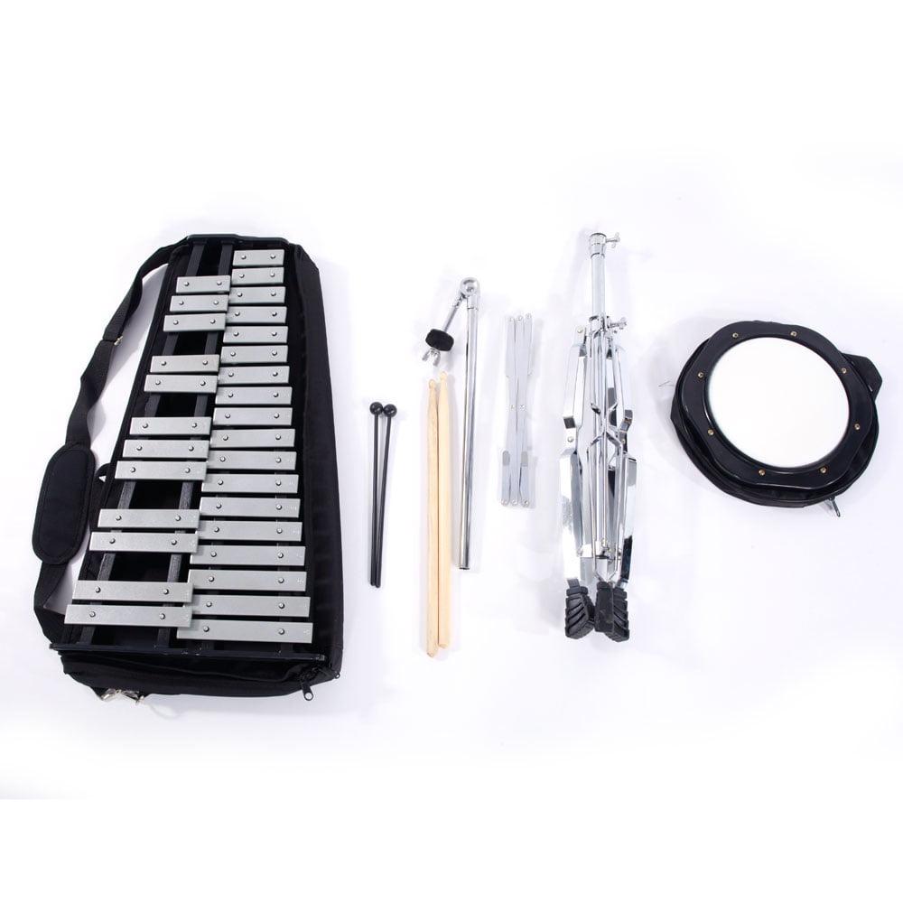 Ktaxon 30-Note Glockenspiel Kit Electroplating Rack + Dumb Drum + Drumsticks + Mallets +... by