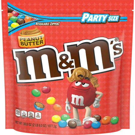 M&M's, Peanut Butter Chocolate Candy, Party Size, 38 Ounce Bar Peanut Butter Caramel