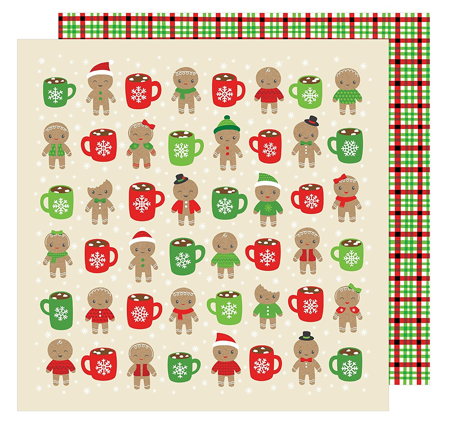 American Crafts All Wrapped Up Collection Christmas 12 X 12 Double Sided Paper Hot Cocoa