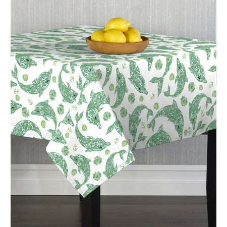 Dolphin Table - Designer Dolphins Tablecloth 90