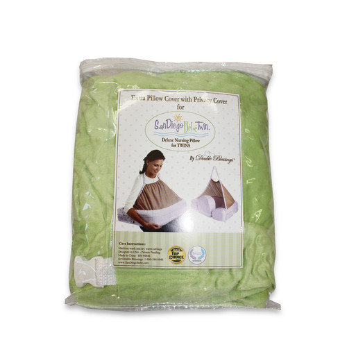 Double Blessings Extra Cover for San Diego Bebe TWIN Eco-Nursing Pillow