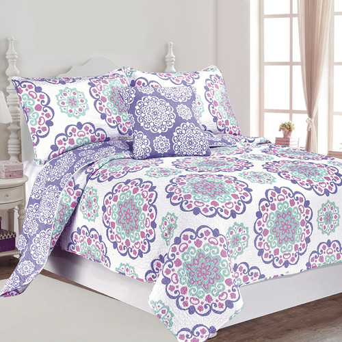 Vivian 4pc Cotton Quilt Full-Queen