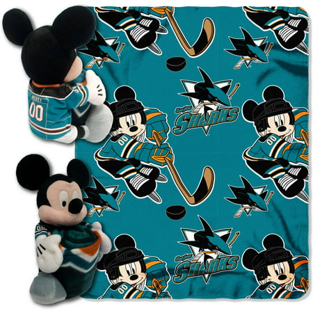 Disney NHL San Jose Sharks Ice War Hugger Pillow and 40