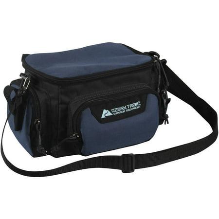 Ozark trail soft sided tackle bag blue for Fishing bags walmart