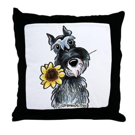 CafePress - Sunflower Schnauzer - Decor Throw Pillow (Schnauzer Pillow)