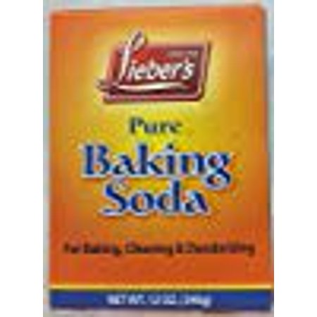 Lieber's Pure Baking Soda For Baking, Cleaning & Deodorizing 12 Oz. Pk Of 6. KFP ()
