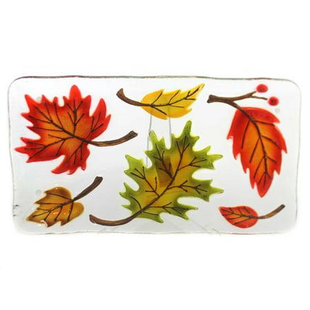 Tabletop FALL LEAVES PLATTER Glass Autumn Thanksgiving 2020180452](Thanksgiving Fruit Platter)