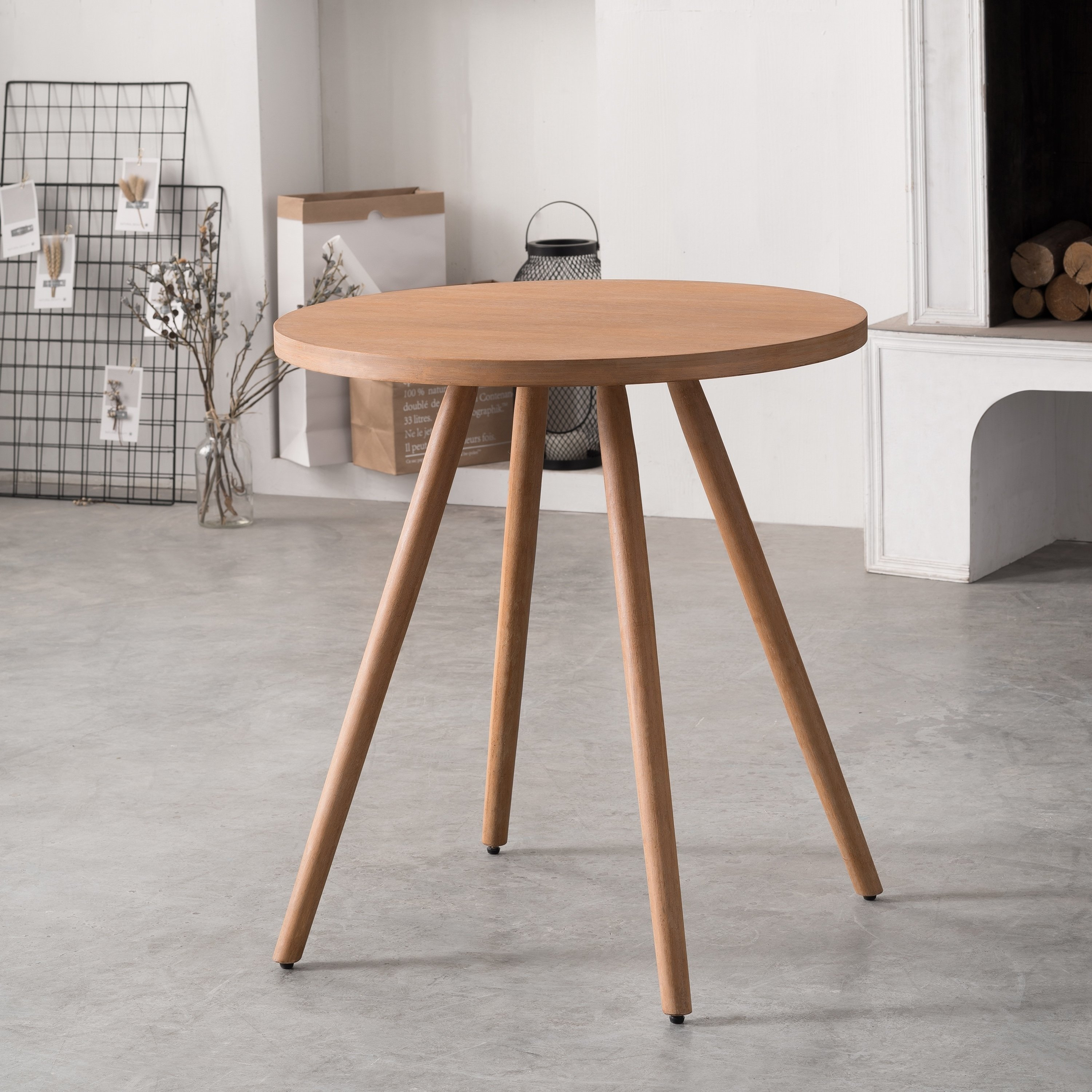 Corvus  Lille Mid-Century Modern Bamboo Dining Site Table