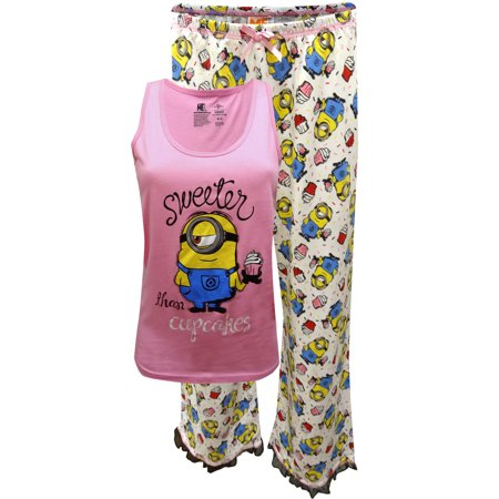Despicable Me Minion Stuart Sweeter Than Cupcakes Plus Size Pajama - Cupcake Minions