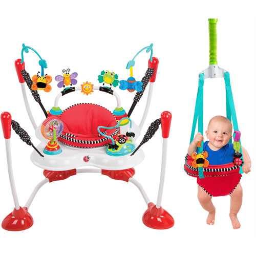 Sassy Inspire the Senses 2-in-1 Bounce Around and Doorway Jumper
