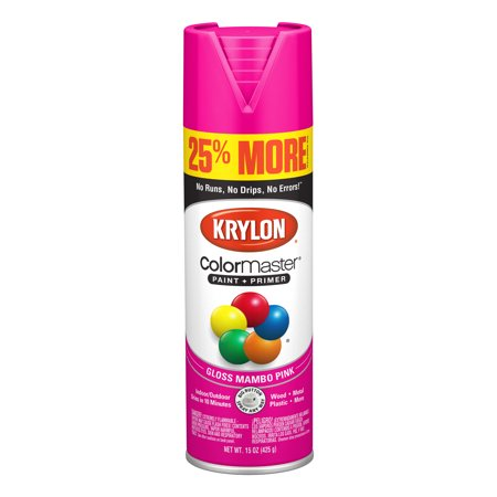 Krylon® ColorMaster Paint + Primer Gloss Mambo Pink, 15-Oz