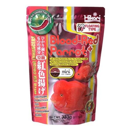 330340 Blood, Red Parrot+, Mini Pellets, 333g, This product is easy to use By