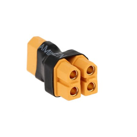 Battery Parallel Circuit - HobbyFlip XT60 Parallel Battery Connector Two Female One Male Power Plug RC Li-Po Compatible with RC Aircraft
