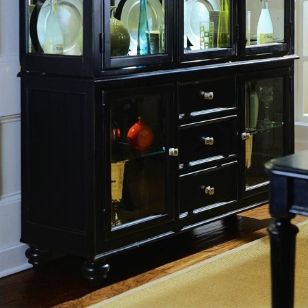 Beaumont Lane Black China Buffet Credenza