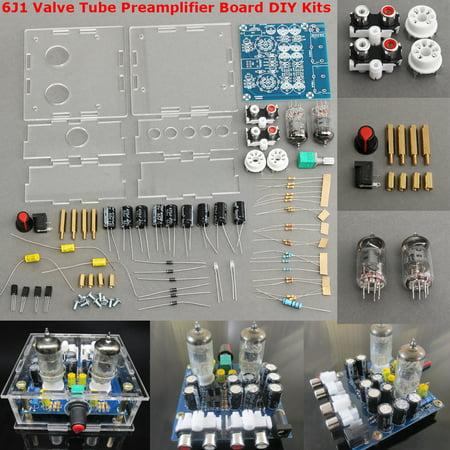 6J1 Valve Tube Preamplifier Board Bass on Musical Fidelity DIY HiFi Tube Amp Kits X10-D & Case - Orange Tube Amp