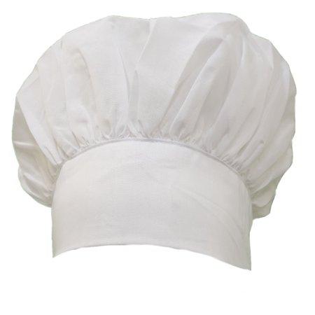 White Bbq Cooking Baking Puffy Uniform Chef Kitchen Hat (Hats Chef)